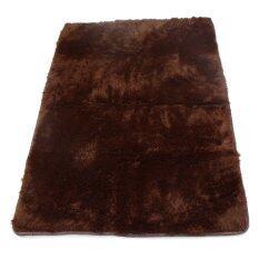 ขาย Shaggy Anti Skid Carpets Rugs Floor Mat Cover 80 120Cm Brown ถูก