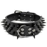 โปรโมชั่น Sharp Spiked Studded Pu Leather Collar For Large Dog Pitbull Mastiff Heavy Duty Black Intl
