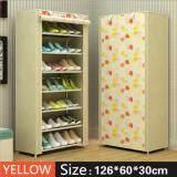 ขาย Shoes Rack ชั้นวางรองเท้า ตู้เก็บรองเท้า ตู้ใส่รองเท้า 7 ชั้น จำนวน 21 คู่ สีเหลือง Yellow ออนไลน์