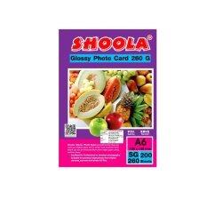ราคา Shoola Inkjet Photo Card Glossy กระดาษอาร์ตมัน 260G A6 200Sheets เป็นต้นฉบับ Shoolajet
