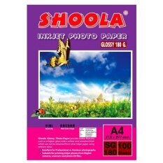 โปรโมชั่น Shoola Inkjet Photo Paper Glossy กระดาษอาร์ตมัน 180G 100Sheets Shoolajet ใหม่ล่าสุด