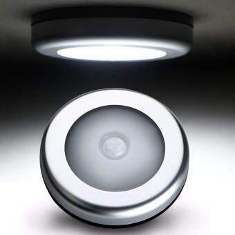 Shop Jung ไฟติดผนังไร้สายไฟติดกำแพง 6 LED Wireless Infrared Motion Sensor Lamp รุ่น 000394 - Silver