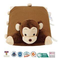 หมอนเด็ก หมอนข้างเด็ก หมอนยางพาราสำหรับเด็ก ใช้หนุนและเป็นหมอนข้างได้ การ์ตูนรูปลิง Easymall ถูก ใน กรุงเทพมหานคร