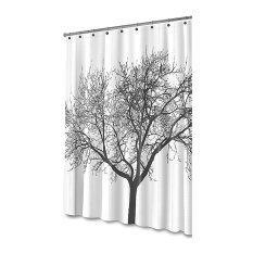 ขาย Shower Curtain With Tree Design 100 Waterproof Eco Friendly Large Size 175X175Cm Unbranded Generic ถูก