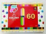 ขาย ซื้อ สีไม้คอลลีน 60 สี สองหัว ใน กรุงเทพมหานคร
