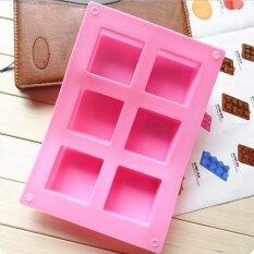ราคา Silicone 6 Cavity Rectangle Soap Cake Ice Mold Mould Tray For Homemade Craft Diy Intl ใหม่ ถูก