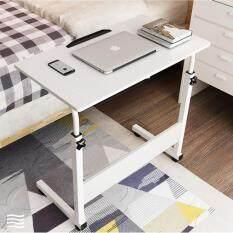 ทบทวน Sivili โต๊ะอเนกประสงค์ โต๊ะคอมพิวเตอร์ โต๊ะอ่านหนังสือ ปรับระดับ พร้อม ล้อเลื่อน ลายไม้ สีขาว Sivili