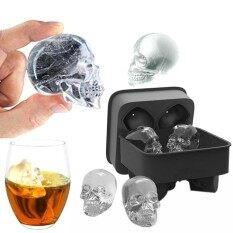Skull Shape 3d Ice Cube Mold Maker Bar Party Silicone Trays Chocolate Mold Gift - Intl