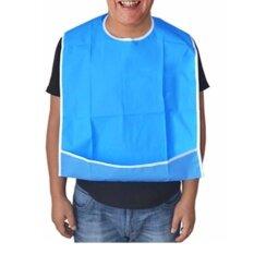 ผ้ากันเปื้อนผู้สูงอายุ ผู้ป่วย ผู้ชาย ผู้หญิง สำหรับทานอาหาร ปรับได้ ซักได้ สะดวก Sl369 สีฟ้า เป็นต้นฉบับ