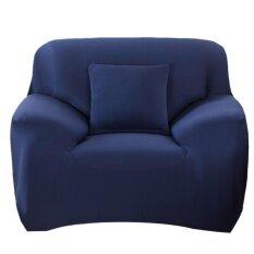 ขาย Slipcover Stretchable Pure Color Sofa Cushion Cover Chair Navy Blue Intl ถูก