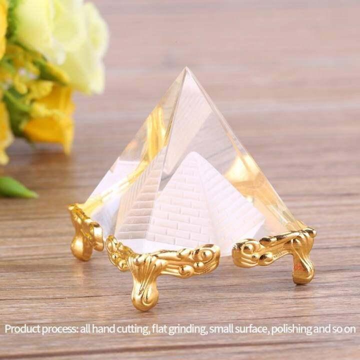 แนะนำ Small Egypt Crystal Pyramid Ornament Home or Work Place Decor