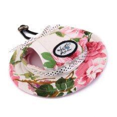 ขาย Small Pet Dog Cat Kitten Floral Princess Mesh Strap Hat Sunbonnet ถูก จีน