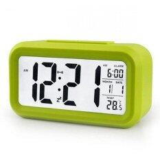 ซื้อ Smart Digital Lcd Led Alarm Clock Green Unbranded Generic ออนไลน์