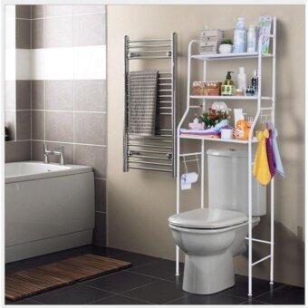 SMARTER ชั้นวางของ ชั้นวางของในห้องน้ำ อเนกประสงค์ ขนาด 26 x 55 x 165 cm ( สีขาว )