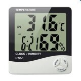 ซื้อ Smile C เครื่องวัดอุณภูมิและความชื้น พร้อมฟังก์ชั่นนาฬิกาปลุก Htc 1 White ถูก