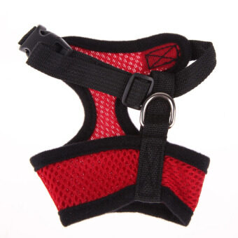 Soft Mesh Dog Harness Pet Puppy Cat Clothing Vest Red