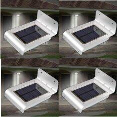 ราคา Solar Expert โคมไฟโซล่าเซลล์ Solar Led ติดกำแพงกันขโมย 4Pcs ถูก