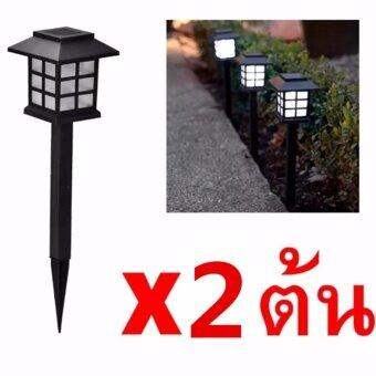 Solar LED Zen CoolWhite ไฟทรงโคมญี่ปุ่นพลังงานแสงอาทิตย์ 2ต้น (โทนแสงขาวเย็น)