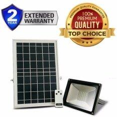 โปรโมชั่น Solar Light Superbright โคมไฟ สปอตไลท์ โซล่าเซลล์ ไฟกันขโมยติดกำแพง 20W ความสว่างมากกว่า 60 Led พร้อมรีโมทคอนโทรล สีดำ Smart Solar ใหม่ล่าสุด
