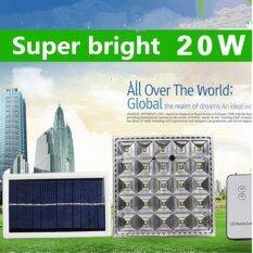 ส่วนลด Solar โคมไฟโซล่าเซลล์ 25 Led พร้อมขายึด เเสง ขาว Gogo