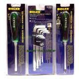 ขาย ซื้อ ออนไลน์ Solex ประแจหกเหลี่ยมหัวบอล ตัวยาว Solex ไขควง แฉก แบน 5นิ้ว