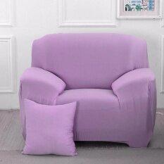 โปรโมชั่น Solid Stretch Sofa Covers Tight Wrap Soft Slipcovers Elastic Couch Cover For Three Seats Intl