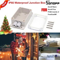 ราคา Sonoff Ip66 กล่องกันน้ำกันน้ำกันน้ำเชลล์รองรับ Sonoff Basic Rf Dual Pow สำหรับต้นคริสต์มาสไฟ ใหม่