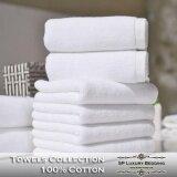 ส่วนลด สินค้า Sp Luxury ผ้าขนหนูเช็ดตัวสีขาว 18 ปอนด์ ขนาด 30 X60 พรีเมี่ยมเกรด