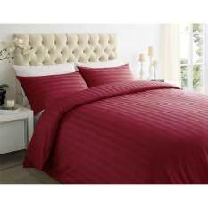 ส่วนลด Sp Luxury ชุดผ้าปูที่นอนเกรดโรงแรมลายริ้ว 7 ฟุต 5 ชิ้น สีแดง Sp Luxury ใน กรุงเทพมหานคร