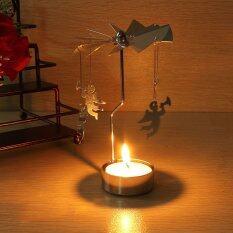ซื้อ Spinning Rotary Carousel Tea Light Candle Holder Stand Light Gift Wedding Decor ใน Thailand