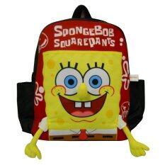 ซื้อ กระเป๋าเป้ Spongebob Squarepants สีแดง 14 X 13 นิ้ว Spongebob Squarepants ถูก
