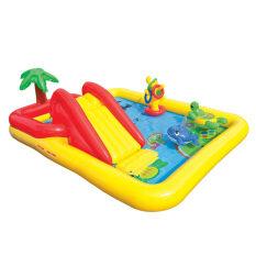 สระว่ายน้ำเด็ก สระว่ายน้ำเป่าลม สระเป่าลม Intex สระสวนน้ำโอเชี่ยน รุ่น 57454 By Bayarea.