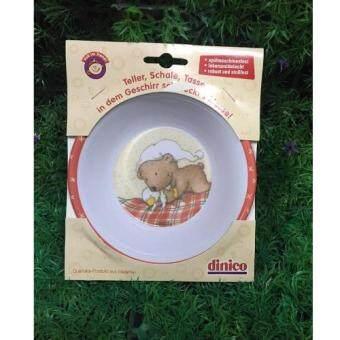 Srithai Superware ชาม5.5นิ้ว สีส้ม ลาย BearSleep(Dinico)สินค้าโละสต๊อค!!
