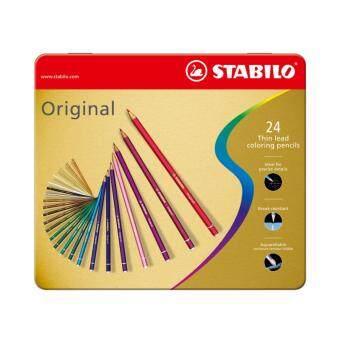 STABILO สตาบิโล Original สีไม้ กล่องเหล็ก ชุด 24 สี