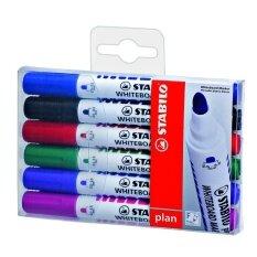 ซื้อ Stabilo สตาบิโล Plan 641 In Wallet ปากกาไวท์บอร์ด หัวกลม ชุด 6 สี กลิ่นไม่ฉุน Stabilo ออนไลน์