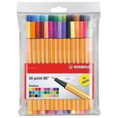 โปรโมชั่น Stabilo Point 88 ปากกาสีหมึกน้ำ Fibre Tip Pen ชุด 30 สี Stabilo ใหม่ล่าสุด