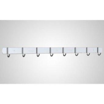 ราวตะขอแขวนอเนกประสงค์ Stainless steel 304 แบบ 8 ตะขอ ยาว 60 ซม.