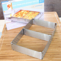Stainless Steel Adjustable Telescopic Rectangular Round Cake Mould Baking Tool Intl ใน จีน