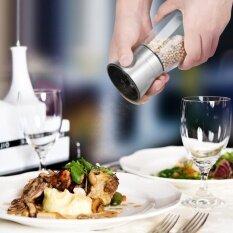 ซื้อ Stainless Steel Salt And Pepper Grinder Mill With Glass Body Adjustable Coarseness Pepper Grinder Kitchen Accessories Intl