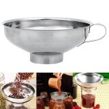 ส่วนลด สินค้า Stainless Steel Wide Mouth Canning Funnel Hopper Filter Jam Maker Strainer Colander Home Kitchen Cooking Tools Gadgets Silver Intl
