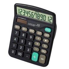 ซื้อ ฟังก์ชั่นมาตรฐาน 12 หลักคู่ ขับเคลื่อนเครื่องคิดเลขพกพาสำหรับโฮมออฟฟิศโรงเรียนธุรกิจเครื่องคิดเลขตั้งโต๊ะ นานาชาติ ออนไลน์ ถูก