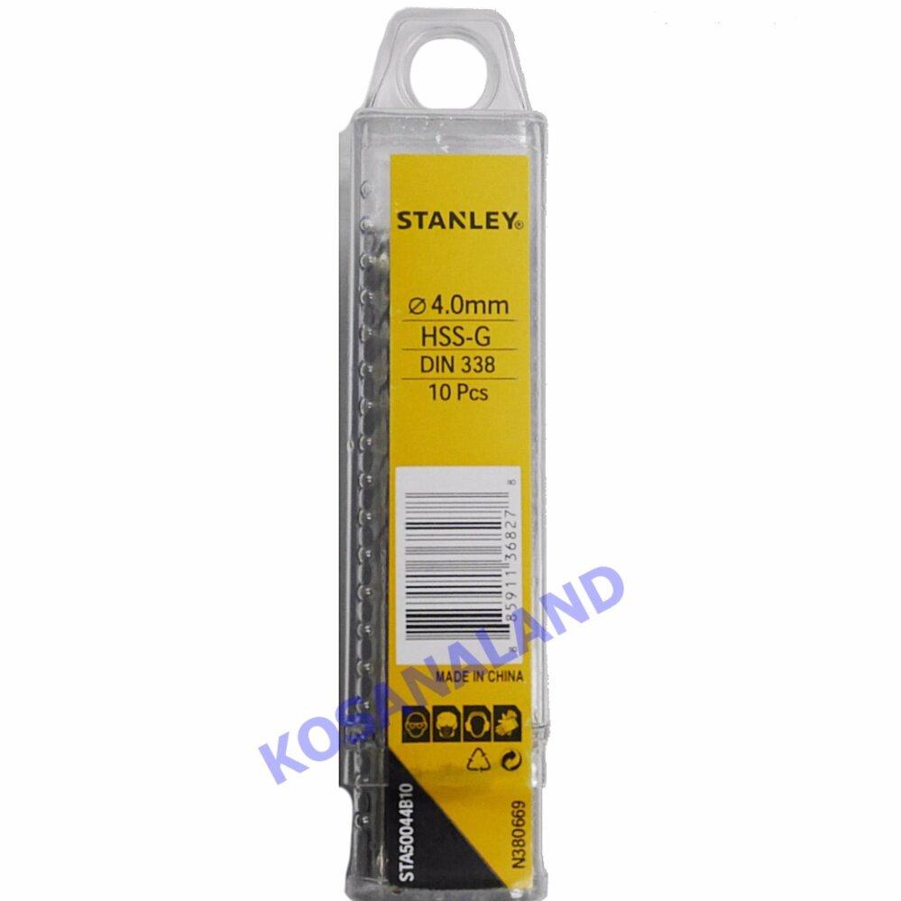 Stanley ดอกสว่านเจาะเหล็ก HSS-G ขนาด 3.5 มม. (9/64 นิ้ว) (แพ็คละ 10 อัน) (HSS Drill Bit) รุ่น STA500039B10