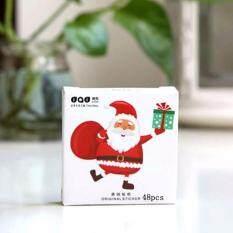 Sticker : Santa Clause (smartsunida) สติ๊กเกอร์รูปซานตาคลอส สีแดง น่ารัก ใช้ตกแต่งสมุด หนังสือ สแครบบุ๊ก.