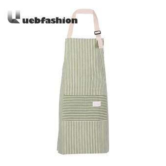 [uebfashion Zero Profit] Stripe Sleeveless Women Apron Anti Dirty Cotton Kitchen Dress - intl