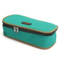 ราคา ดินสอปากกากระเป๋าผ้ากระเป๋านักท่องเที่ยวกระเป๋าแต่งหน้าสีเขียว ออนไลน์ จีน