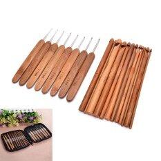 ซื้อ Sunyoo 20Pcs Set Wooden Handle Crochet Hooks Knitting Needles Diy Needlecrafts Tool Intl ใหม่ล่าสุด