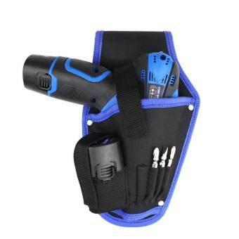 Sunyoo - สีฟ้า/สีแดงผ้าใบแบบพกพาช่างไฟฟ้าด้ามจับสว่านชุดเครื่องมือกระเป๋าคาดเอว - Blue - INTL