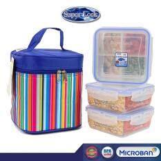 ส่วนลด Super Lock กล่องถนอมอาหาร พร้อมกระเป๋าเก็บความร้อน คละลาย เซท 6 ชิ้น รวมฝา รุ่น Ddd 5011 สมุทรปราการ