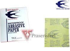 ราคา ราคาถูกที่สุด Swallow Brand กระดาษทรายน้ำ ตรานกนางแอ่น 280 5 แผ่น