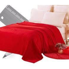 โปรโมชั่น Sweet Kip ผ้าห่มนาโน ขนาด 180X200 ซม สีพื้นแดง ถูก